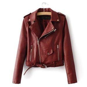 Rika Lulla Sz L Red PU vegan leather motorcycle